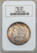 Morgan Dollars: , 1884 $1 MS65 NGC. NGC Census: (1887/283). PCGS Population(2050/450). Mintage: 14,070,875. Numismedia Wsl. Price forproble...