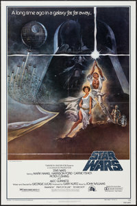 """Star Wars (20th Century Fox, 1977). One Sheet (27"""" X 41"""") Style A and Promotional Title Cards (4) (11"""" X..."""