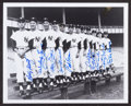Baseball Collectibles:Photos, 1958 New York Yankees Pitching Staff Multi Signed Photograph....