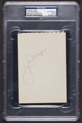 Baseball Collectibles:Others, Joe DiMaggio Signed Autograph Album Page, PSA Authentic....