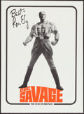 "Movie Posters:Adventure, Doc Savage: The Man of Bronze (Warner Brothers, 1975). PromotionalPoster with Printed Facsimile Autograph (20"" X 27"").. ..."