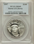 Modern Bullion Coins, 1997 P$100 One-Ounce Statue of Liberty MS69 PCGS. PCGS Population(191/1). NGC Census: (141/5). Mintage: 56,000. Numismedia...