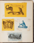 Books:Americana & American History, [Civil War, Patriotic, Political Americana]. Collection ofApproximately 70 Mounted Civil War Era Illustrations Taken fromEnv...