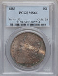 Morgan Dollars: , 1885 $1 MS64 PCGS. PCGS Population (24126/9382). NGC Census:(29970/11798). Mintage: 17,787,768. Numismedia Wsl. Price for ...