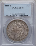 Morgan Dollars: , 1888-S $1 XF40 PCGS. PCGS Population (64/6373). NGC Census:(25/3721). Mintage: 657,000. Numismedia Wsl. Price for problem ...