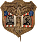 Political:Ferrotypes / Photo Badges (pre-1896), McClellan & Pendleton: Gorgeous Ferrotype Jugate....