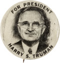 Political:Pinback Buttons (1896-present), Harry S Truman: Desirable Picture Pin....