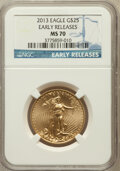 Modern Bullion Coins, 2013 $25 Half-Ounce Gold Eagle, Early Releases MS70 NGC. NGCCensus: (0). PCGS Population (726)....