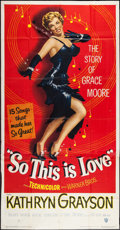 "Movie Posters:Musical, So This Is Love (Warner Brothers, 1953). Three Sheet (41"" X 79""). Musical.. ..."
