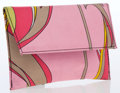 Luxury Accessories:Bags, Emilio Pucci Abstract Multicolor Silk Coin Purse. ...