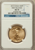 Modern Bullion Coins, 2013 $25 Half-Ounce Gold Eagle, First Releases MS70 NGC. NGCCensus: (0). PCGS Population (726)....
