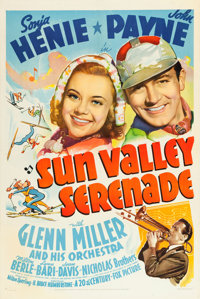 "Sun Valley Serenade (20th Century Fox, 1941). One Sheet (27"" X 41"") Style B"