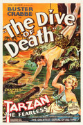 "Movie Posters:Serial, Tarzan the Fearless (Principal Distributing, 1933). One Sheet (27""X 41"") Chapter 1 -- ""The Dive of Death."". ..."