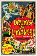 "Movie Posters:Serial, Drums of Fu Manchu (Republic, 1940). One Sheet (27"" X 41"") Chapter1-- ""Fu Manchu Strikes."". ..."
