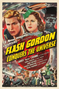 "Movie Posters:Serial, Flash Gordon Conquers the Universe (Universal, 1940). Stock OneSheet (27"" X 41"").. ..."