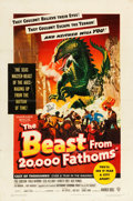 """Movie Posters:Science Fiction, The Beast from 20,000 Fathoms (Warner Brothers, 1953). One Sheet(27"""" X 41"""").. ..."""
