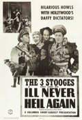 "Movie Posters:Comedy, The Three Stooges in I'll Never Heil Again (Columbia, 1941). OneSheet (27"" X 41"").. ..."