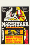 "Movie Posters:Exploitation, Marihuana (Roadshow Attractions, 1936). One Sheet (27"" X 41"").. ..."