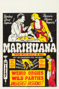 "Marihuana (Roadshow Attractions, 1936). One Sheet (27"" X 41"")"