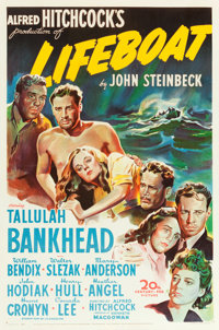 "Lifeboat (20th Century Fox, 1944). One Sheet (27"" X 41"")"
