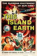 "Movie Posters:Science Fiction, This Island Earth (Universal International, 1955). One Sheet (27"" X41"").From the Collection of Wade Williams.. ..."