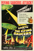 """Movie Posters:Science Fiction, Earth vs. the Flying Saucers (Columbia, 1956). One Sheet (27"""" X41""""). From the Collection of Wade Williams.. ..."""