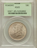 Commemorative Silver: , 1937 50C Roanoke MS65 PCGS. PCGS Population (2190/1469). NGCCensus: (1503/1201). Mintage: 29,030. Numismedia Wsl. Price fo...