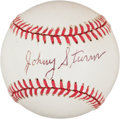 Autographs:Bats, Johnny Sturm Single Signed Baseball....