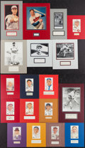 Baseball Collectibles:Others, Baseball Greats Signed Cut Signature Displays Lot of 18....
