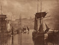 Photographs:20th Century, FRANK MEADOW SUTCLIFFE (British, 1853-1941). View of WhitbyHarbour, circa 1880-89. Carbon print . 9-3/4 x 11-1/4 inches...