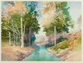 Fine Art - Work on Paper, DOUGLAS CHUN (Chinese/American, b. 1932). Valley Stream,1951. Color serigraph. 26 x 34-1/2 inches (66.0 x 87.6 cm) (sig...