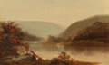 American:Hudson River School, AMERICAN SCHOOL (Late 19th/Early 20th Century). Hudson RiverScene. Oil on canvas. 22 x 36 inches (55.9 x 91.4 cm). ...
