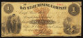 Obsoletes By State:Michigan, Eagle River, MI- The Bay State Mining Company $1 Jan. 27, 1866 Lee CMGC-3-3. ...