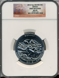 Modern Bullion Coins, 2012 25C Denali Five-Ounce Silver, First Releases MS69 NGC. ...