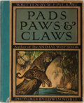 Books:Natural History Books & Prints, Edwin Noble [illustrator]. W. P. Pycraft. Pads, Paws and Claws. Stokes, ca. 1912. Publisher's quarter cloth over dec...