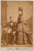 Photography:Cabinet Photos, Drury Woodson (Woot) James and His Wife: A Circa 1860s CabinetPhoto. ...