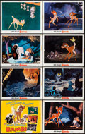 """Movie Posters:Animation, Bambi (Buena Vista, R-1975). Title Lobby Card and Lobby Cards (10)(11"""" X 14""""). Animation.. ... (Total: 11 Items)"""