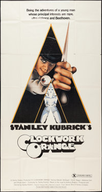 """A Clockwork Orange (Warner Brothers, 1971). Three Sheet (41"""" X 77""""). X-Rated Style. Science Fiction"""