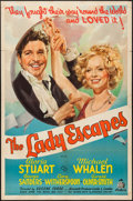 "Movie Posters:Comedy, The Lady Escapes (20th Century Fox, 1937). One Sheet (27"" X 41"").Comedy.. ..."