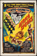 """Movie Posters:Documentary, Africa Speaks!/Goona Goona Combo (Classic Pictures, R-1950s). One Sheet (27"""" X 41""""). Documentary.. ..."""