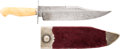 Edged Weapons:Knives, Large Antique English Clip-Point Bowie Knife Marked: Sam'l Wragg,Sheffield, Together with Scabbard....