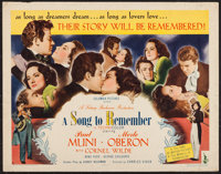 "A Song to Remember (Columbia, 1945). Half Sheet (22"" X 28"") Style A. Drama"