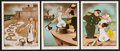 """Movie Posters:Animation, Popeye (Paramount, 1943). Color Photos (3) (8"""" X 10""""). Animation.. ... (Total: 3 Items)"""