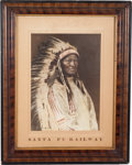 "American Indian Art:Photographs, Carl Moon: A Superb, Giant Hand-colored 12"" x 16.5"" Photo by One ofthe Top Turn-of-the-Century Photographers of Native Americ..."