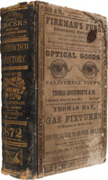Books:Reference & Bibliography, San Francisco: A Rare 1872 Business Directory....