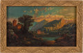 Antiques:Decorative Americana, Oil Painting That Hung in the Home of Jesse James. ...