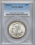 Walking Liberty Half Dollars: , 1943-D 50C MS65 PCGS. PCGS Population (3024/1838). NGC Census:(1731/1656). Mintage: 11,346,000. Numismedia Wsl. Price for ...