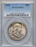 Franklin Half Dollars: , 1954 50C MS65 PCGS. PCGS Population (628/36). NGC Census:(1225/65). Mintage: 13,100,000. Numismedia Wsl. Price forproblem...