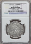 Bust Half Dollars, 1818/7 50C Large 8 -- Improperly Cleaned -- NGC Details. Fine.O-101a. PCGS Population (3/155)....