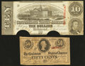 Confederate Notes:1863 Issues, T59 $10 1863.. T63 50c 1863.. ... (Total: 2 notes)